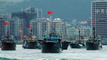 30 tàu cá Trung Quốc trên đường tiến ra Trường Sa -Ảnh: Chinanews.com