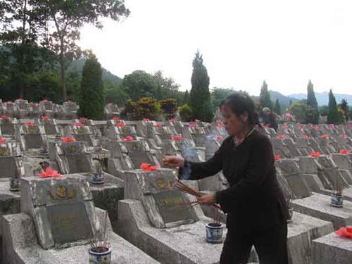 Nghĩa trang Liệt sĩ Vị Xuyên, nơi yên nghỉ của hàng ngàn cán bộ, chiến sĩ hy sinh trong cuộc chiến đấu bảo vệ biên cương phía Bắc Tổ quốc