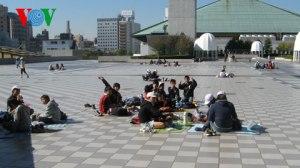 Nhật Bản rất chú trọng tổ chức cho trẻ có các hoạt động tập thể ngoài trời
