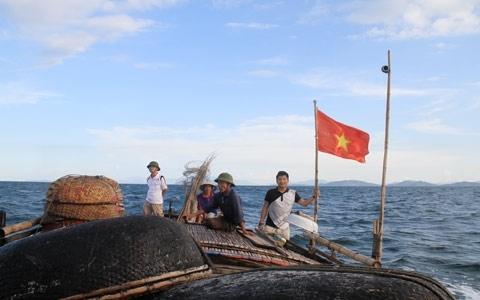 Thuyền cá của ngư dân.