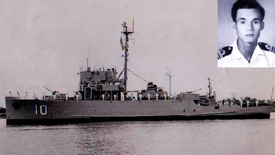Tàu Nhật Tảo và người chỉ huy - Thiếu tá VNCH Ngụy Văn Thà: Ảnh tư liệu/ Infonet