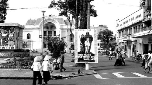 """Áp-phích """"Chiến thắng quân Trung Quốc xâm lược"""" tại TP HCM, năm 1979"""