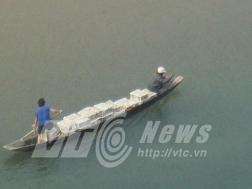 Dùng cả thuyền để chuyên chở hàng hóa 'hôi của' được.