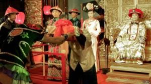 Diễn lại cảnh triều đình nhà Thanh tại Trung Quốc