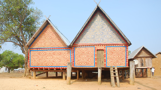 Nhà rông ở Kon Chro (Gia Lai)
