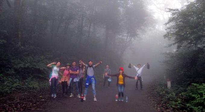 Sương mù dày đặc khiến du khách ngỡ như đang lạc vào thế giới cổ tích