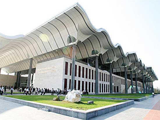 Trung tâm Hội nghị quốc gia Mỹ Đình giờ chủ yếu để tổ chức đám cưới.