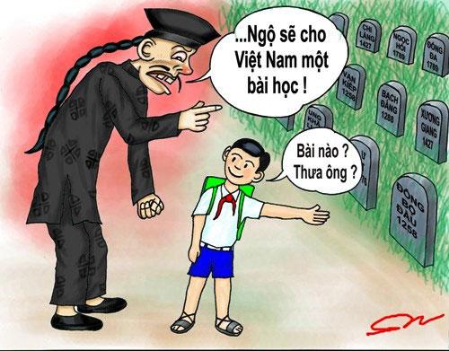 Tác phẩm biếm họa của họa sĩ Mai Sơn