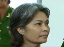 Bà Bùi Thị Minh Hằng tại tòa án tỉnh Ðồng Tháp hôm 26/8