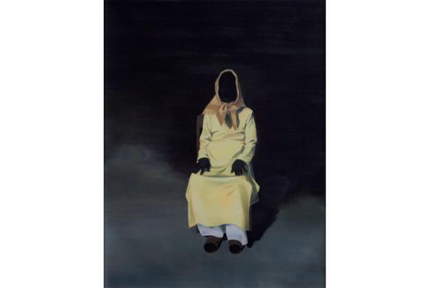 """""""Tranh đen số 44"""" (2008) của Nguyễn Thái Tuấn. Sơn dầu, 130 x 100cm."""