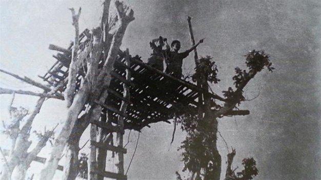 Đài quan sát trên đảo Cồn Cỏ những năm chiến tranh - Ảnh tư liệu