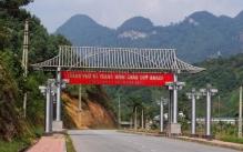 Một chiếc cổng chào ở Hà Giang