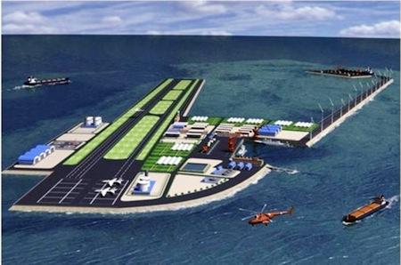 Đồ họa về căn cứ quân sự mà Trung Quốc định xây ở đá Gạc Ma - Ảnh: The Philippine Star