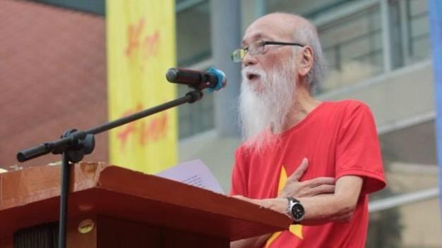 PGS Văn Như Cương tại lễ khai giảng Trường Lương Thế Vinh (Hà Nội) ngày 4-9 - Ảnh: nhân vật cung cấp