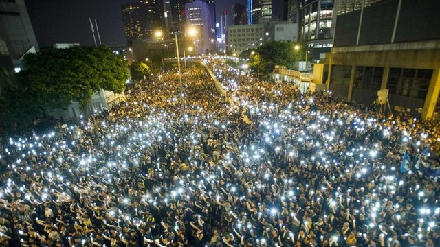 Hong Kong về đêm. Ảnh: Internet
