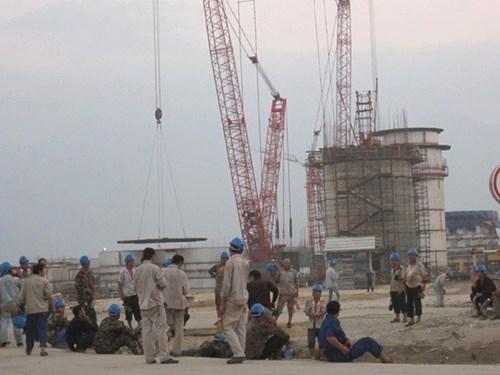 Công nhân Trung Quốc tại Dự án Formosa, đa số là lao động phổ thông (Laodong.com.vn)
