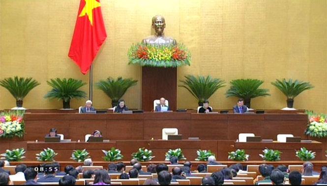 Toàn cảnh khai mạc kỳ họp thứ 8, Quốc hội khóa XIII tại tòa nhà Quốc hội mới