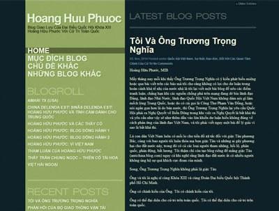 Trang blog riêng của đại biểu quốc hội Hoàng Hữu Phước