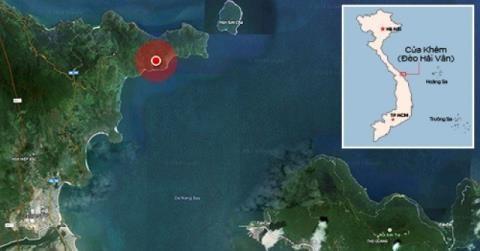Dự án khu nghỉ dưỡng quốc tế tại Cửa Khẻm (vùng khoanh đỏ) của đèo Hải Vân