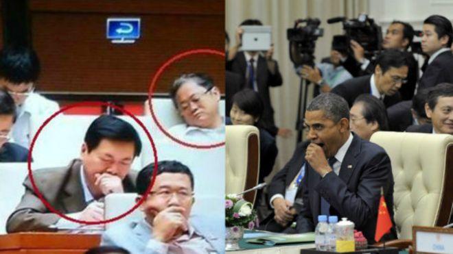 Đại biểu Quốc hội Việt Nam ngủ gật, trong khi Tổng thống Obama cũng ngáp ở Hội nghị Đông Á 2012