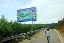 Con đường dẫn xuống dự án khu du lịch nghỉ dưỡng quốc tế World Shine - Huế ở đèo Hải Vân